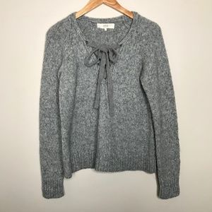Vanessa Bruno Athé Lace Up Sweater